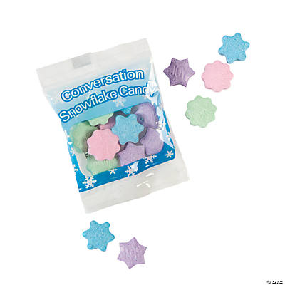 Conversation Snowflake Candy Fun Packs