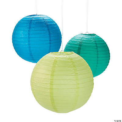 Cool Colors Hanging Lanterns