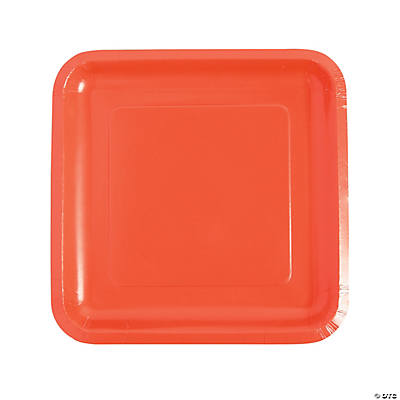 coral paper plates You will love these unique paper plates in this modern design rectangular shaped and small, these gold and coral paper plates are perfect for serving your besties.