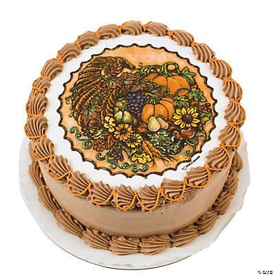 Edible Cake Images Thanksgiving : Cornucopia Edible Image  Cake Decoration - Oriental ...