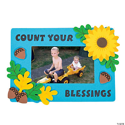 """Count Your Blessings"" Picture Frame Magnet Craft Kit"