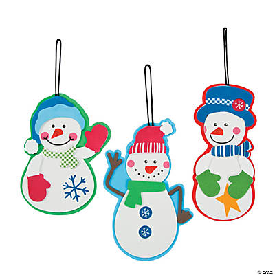 Country Snowman Ornament Christmas Craft Kit
