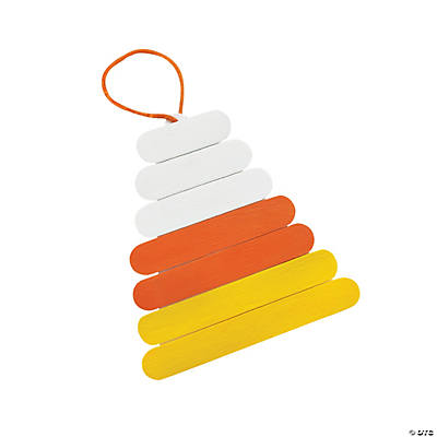 Craft Stick Candy Corn Ornament Craft Kit