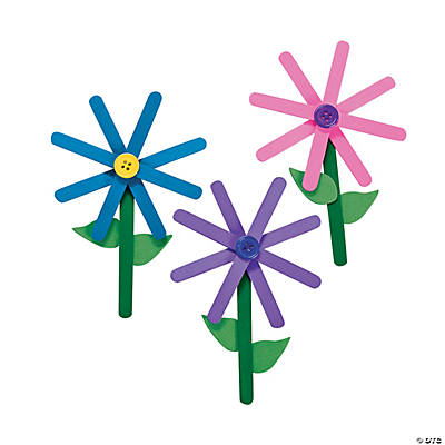 Craft Stick Flower Craft Kit