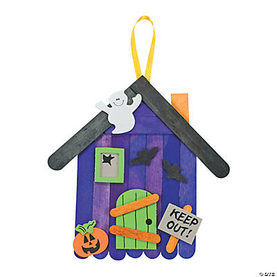 Craft Stick Haunted House Banner Craft Kit