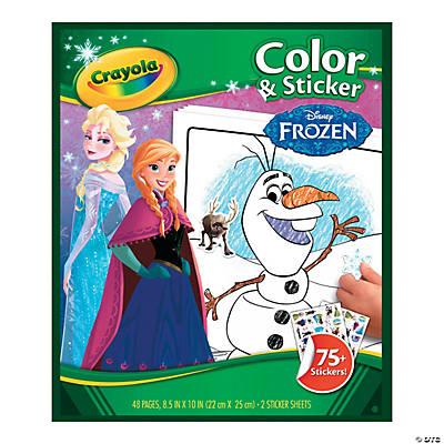 Crayola Disneys Frozen Color Amp Sticker Book