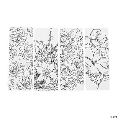 creative coloring bookmarks floral