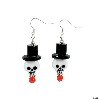 Creepy Skull Lampwork Earrings Kit