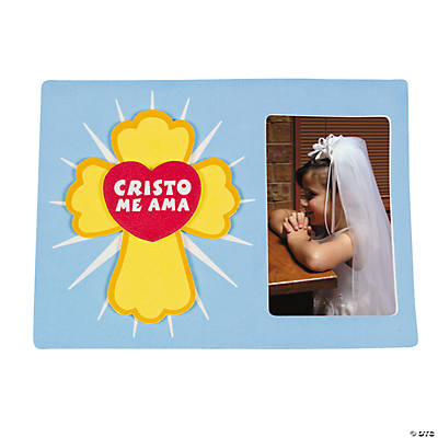 """Cristo Me Ama"" Picture Frame Magnet Craft Kit"