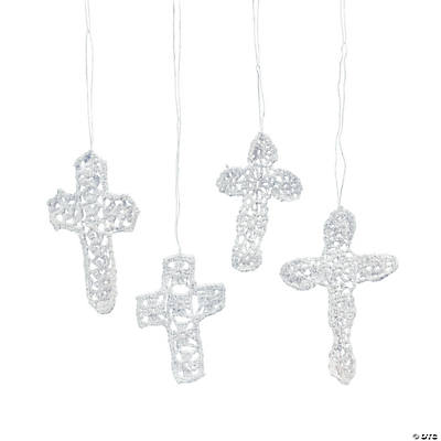 Crocheted Cross Ornaments