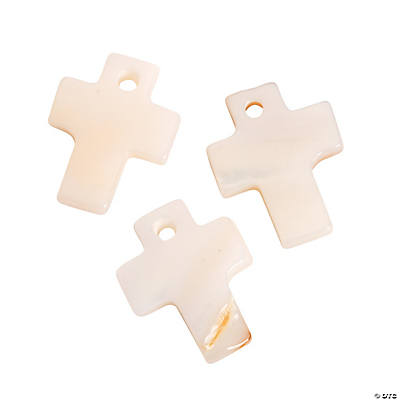 Cross Freshwater Shell Charms
