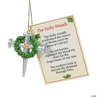 Cross of Nails Christmas Ornaments with Card