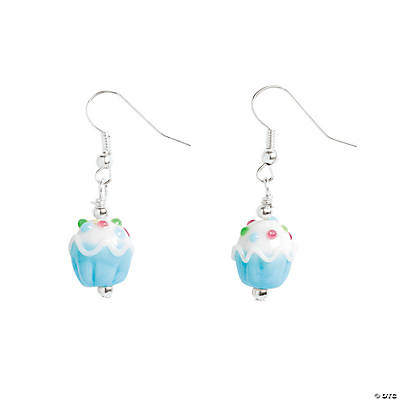 Cupcake Lampwork Earrings Craft Kit