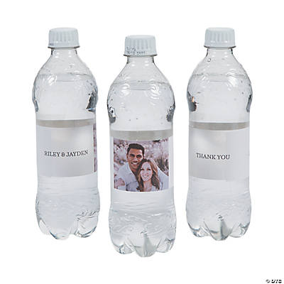 Custom Photo Classic Water Bottle Labels