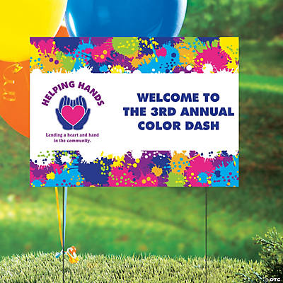 Custom Photo Color Run Yard Sign
