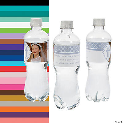 Custom Photo Cross Water Bottle Labels