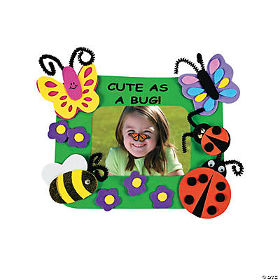 """Cute As A Bug!"" Picture Frame Magnet Craft Kit"