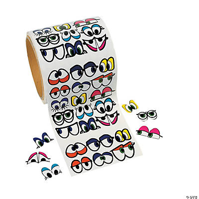 Cute Colorful Eye Roll of Stickers