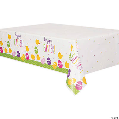 Cute Easter Plastic Tablecloth