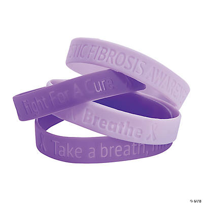 cystic fibrosis awareness rubber bracelets - Cystic Fibrosis Color