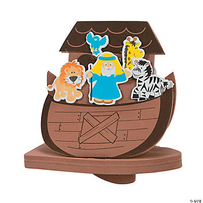 3d floating noah s ark craft kit oriental trading for The ark of craft