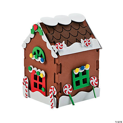 3D Gingerbread House Craft Kit