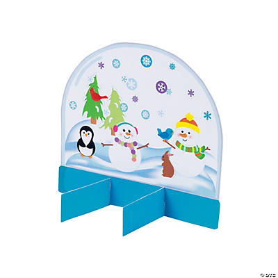 3D Snow Globe Sticker Scenes
