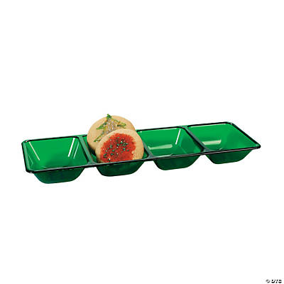 Dark Green Four Compartment Tray