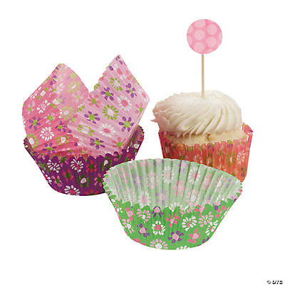 Darling Daisy Baking Cups with Picks