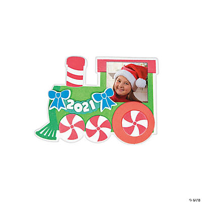 Dated Christmas Train Picture Frame Magnet Craft Kit
