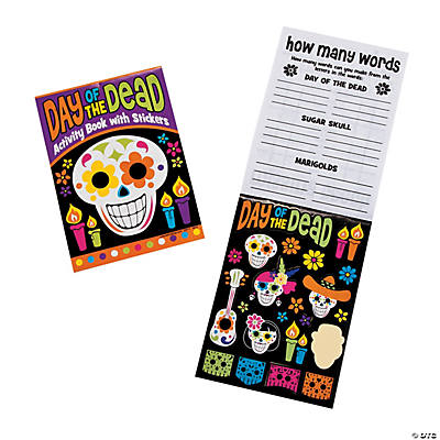 """Day of the Dead"" Activity Books with Stickers"