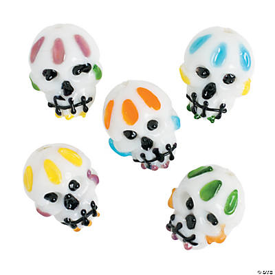 Day of the Dead Lampwork Beads