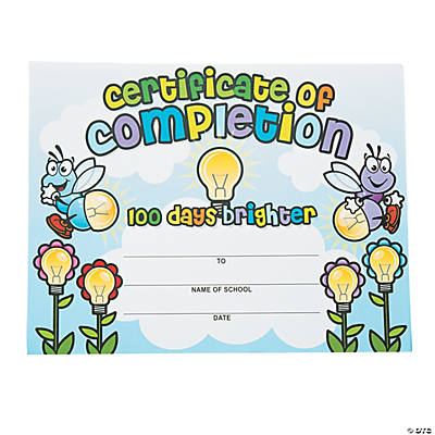 """100 Days Brighter"" Award Certificates"