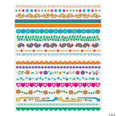 19 Decorative Colored Border Stickers