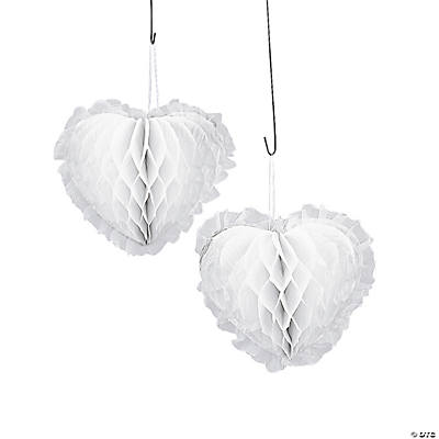 Decorative White Hearts