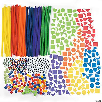 Deluxe rainbow bulk craft assortment oriental trading for Wholesale craft supplies in bulk
