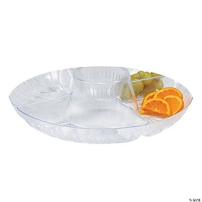 Diamond Cut Deep Four-Compartment Serving Tray
