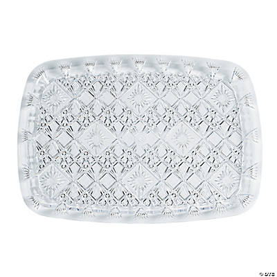 "Diamond Cut Rectangular Serving Tray - 15"" x 10"""