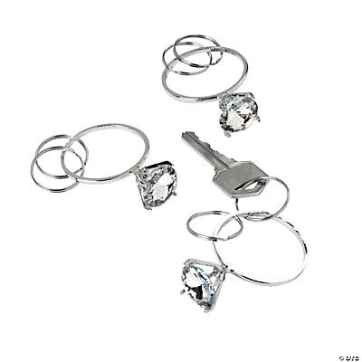 Diamond Ring Key Rings
