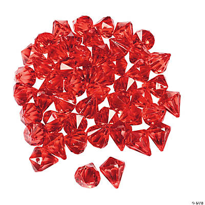 Diamond-Shaped Red Gems