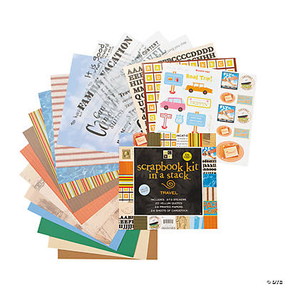 Die Cuts with A View® Scrapbook Kit in A Stack™ – Travel