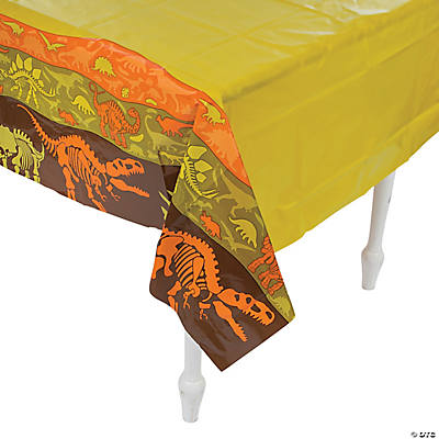 Dino Dig Plastic Tablecloth