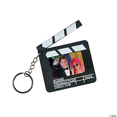 Director's Clapboard Picture Frame Key Chains