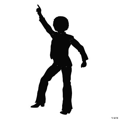 Disco Dancing Silhouette Jointed Cutout