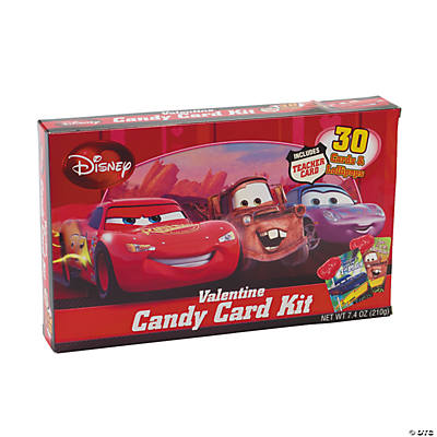 Disney Cars Valentine Cards Candy Kit Oriental Trading – Valentines Cards with Candy