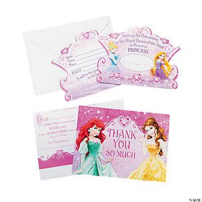 Princess Very Important Princess Dream Party Invitations Thank – Disney Princess Party Invites