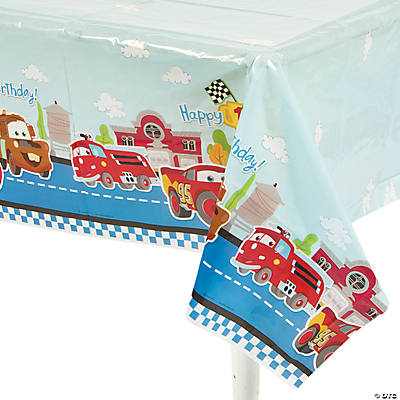 "Disney's Cars ""1st Birthday"" Champ Tablecloth"