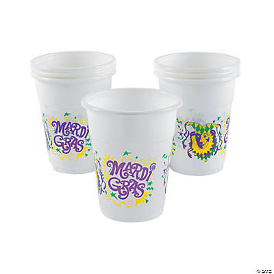 Disposable Plastic Mardi Gras Cups