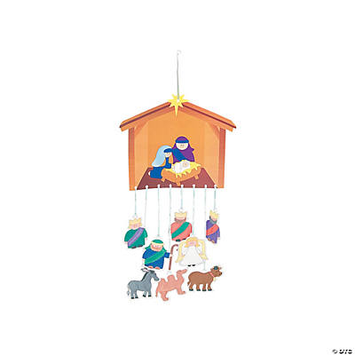 DIY Away in A Manger Nativity Mobile Craft Kits