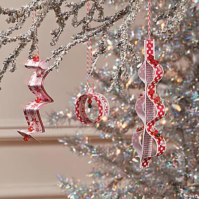 Diy Beaded Paper Christmas Ornaments Idea